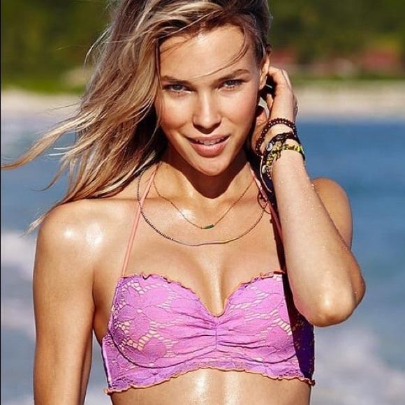Victoria's Secret Other - Victoria's Secret Floral Lace Halter Bikini 34B